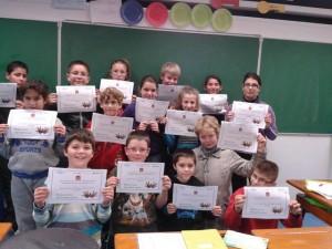 Elèves de Saint-Estèphe (33) Apprentis d'Auteuil – Remise des attestations de participation de l'édition 2012