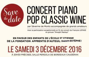 concert caritatif Apprentis d'Auteuil